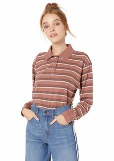 RVCA Junior's Junction LOGN Sleeve Polo Shirt  XL