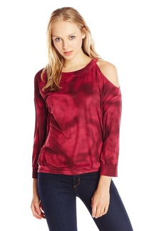 RVCA Junior's Just Hangin Faux Suede Knit Top
