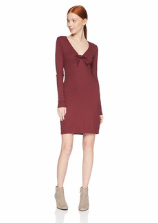 RVCA Junior's Knot UP Fitted Long Sleeve Dress  L