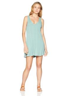 RVCA Junior's Leela Sleeveless Coverup Dress sea wash L