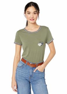 RVCA Junior's LOVESTRUNG Short Sleeve Ringer T-Shirt  XL