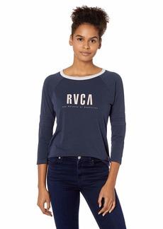 RVCA Junior's Marisol 3/4 Sleeve TEE  M