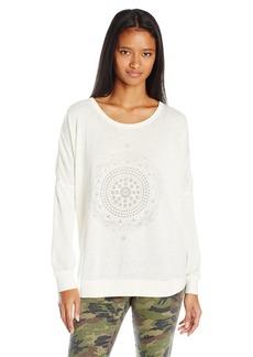 RVCA Junior's Mort Mandala Burnout Fleece Sweatshirt