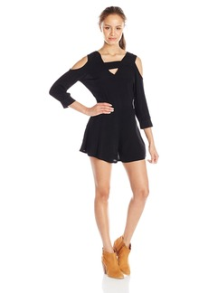 RVCA Junior's Naomi Cutout Romper Dress