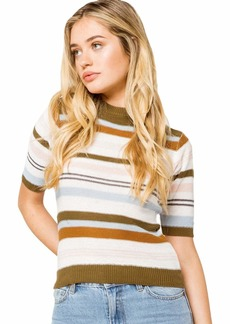RVCA Junior's Nora Short Sleeve Striped Sweater  S
