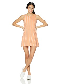 RVCA Junior's Peony HIGH Neck Flare Dress  S