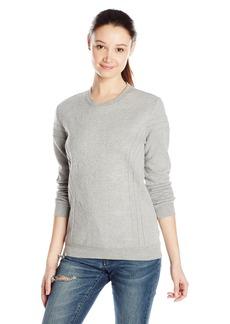 RVCA Junior's Relevant Pullover Fleece with Quilting Design