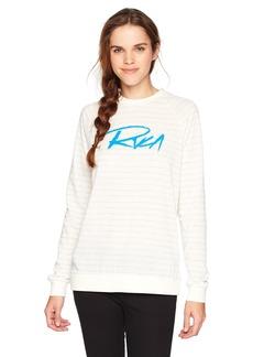 RVCA Junior's Skratch Fleece Crew Neck Sweatshirt  XS