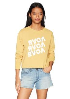 RVCA Junior's Slice Crew Neck Sweatshirt  L