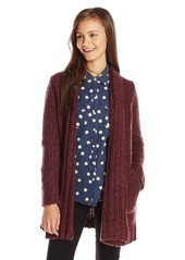 RVCA Junior's Still Free Cardigan Chunky Sweater