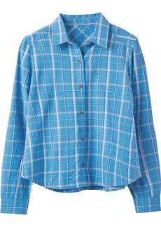 RVCA Junior's Subject Long Sleeve Woven Shirt  M