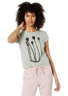 RVCA Womens Swaying Palms Short Sleeve Baby T-Shirt sage S