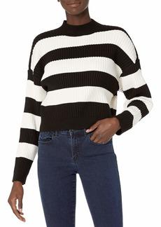 RVCA Junior's Tate Long Sleeve Mock Neck Sweater  XS/