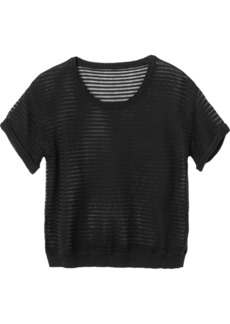 RVCA Juniors Teaser Tee Crew Neck Sweater Knit Tee
