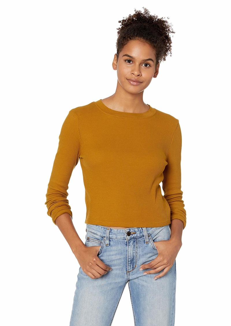 RVCA Junior's Terminal Cropped Thermal Shirt  XS