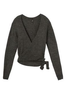 RVCA Women's The FUZ WRAP Sweater  XL
