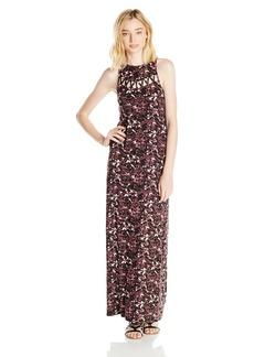RVCA Junior's Tied Up Printed Maxi Dress