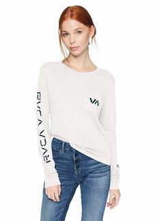 RVCA Junior's VA Spray Long Sleeve Pocket T-Shirt  XS