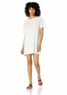 RVCA Womens Vinyl Oversized T-Shirt Dress dove gray M