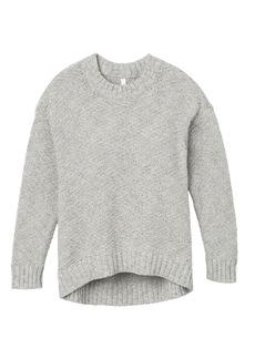 RVCA Junior's ZIGGED Drop Shoulder Sweater  L