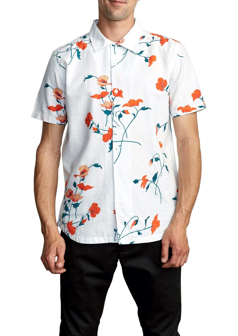 RVCA Lazarus Floral Short Sleeve Button-Up Shirt
