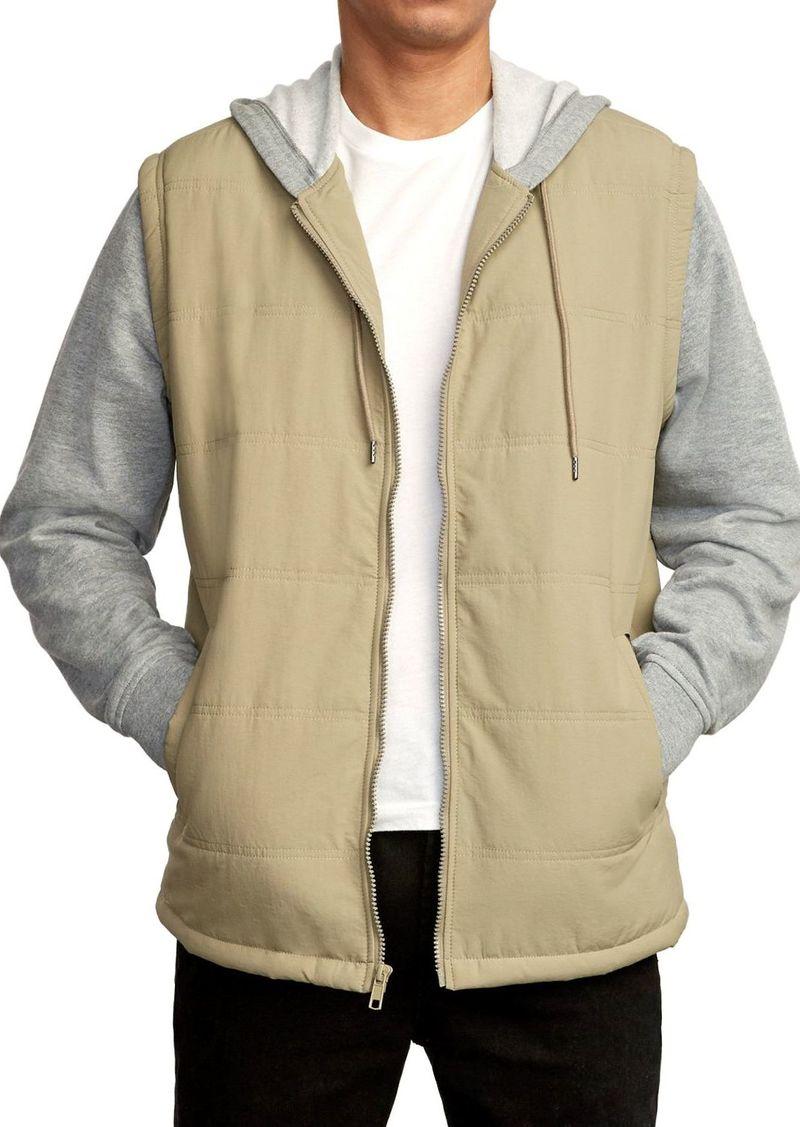 RVCA Logan Layered-Look Slim Fit Jacket