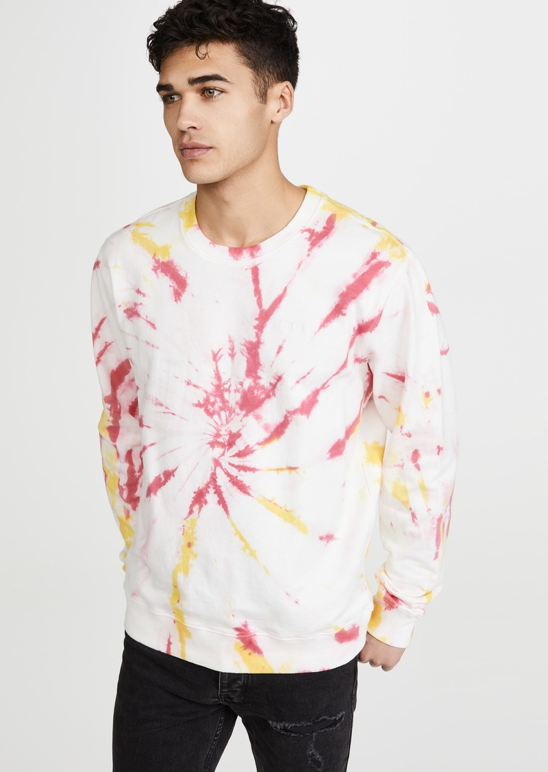 RVCA Long Sleeve Switch Tie Dye Crew Neck Sweatshirt