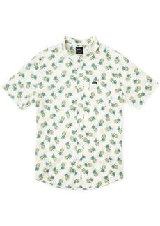 Rvca Men's All Over Pineapple Print Short Sleeve Woven