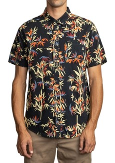 Rvca Men's Bamboozled Regular-Fit Bamboo-Print Shirt