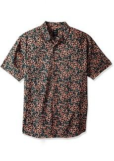 RVCA Men's Barrow Short Sleeve Woven Shirt  XL