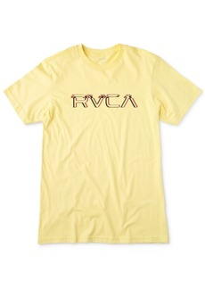 Rvca Men's Big Glitch Logo Graphic T-Shirt