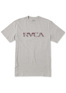 Rvca Men's Big Glitch Logo Graphic T-Shirt