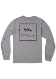 Rvca Men's Big Glitch Logo Long Sleeve T-Shirt