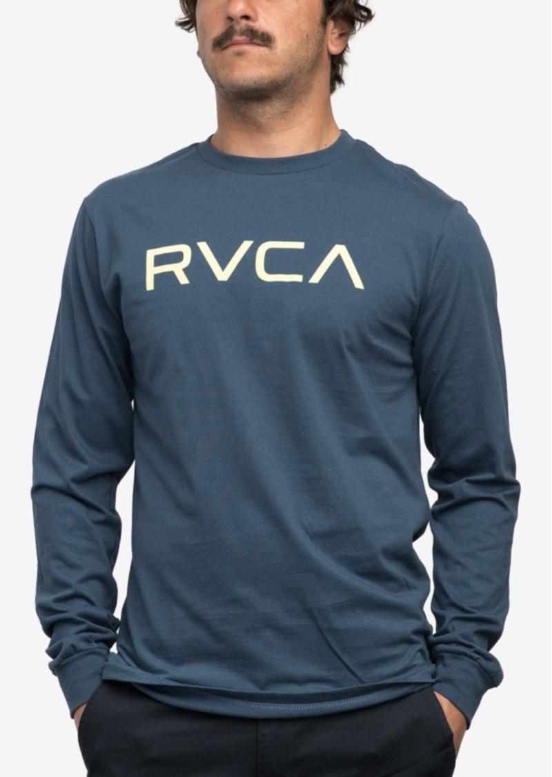 Rvca rvca men 39 s big graphic print logo cotton t shirt t for Print logo on shirt
