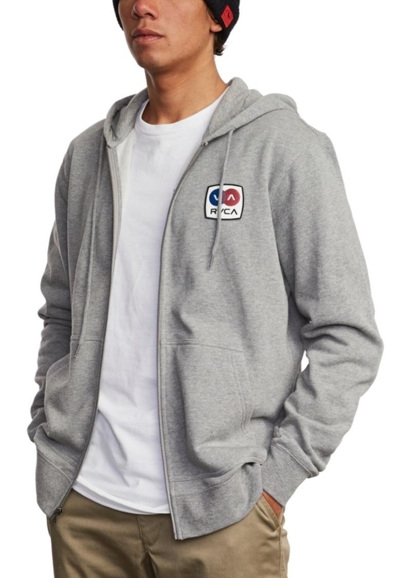 Rvca Men's Branded Zip Hooded Sweater
