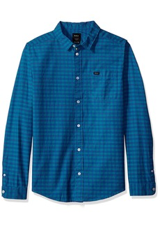 RVCA Men's Delivery Long Sleeve Woven Shirt  XL