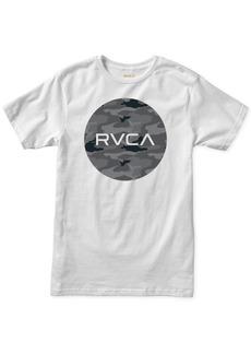 Rvca Men's Floral Logo Graphic T-Shirt