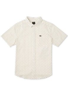 Rvca Men's Gauze Dot-Print Shirt