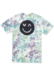 Rvca Men's Happy Sad Tie-Dyed Graphic T-Shirt