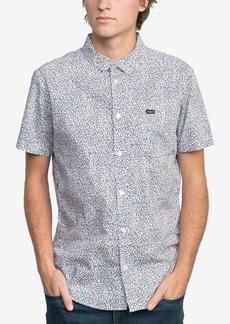 Rvca Men's Happy Thoughts Floral-Print Pocket Shirt