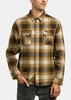 Rvca Mens High Plains Plaid Shirt