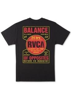Rvca Men's Insured Logo Graphic T-Shirt