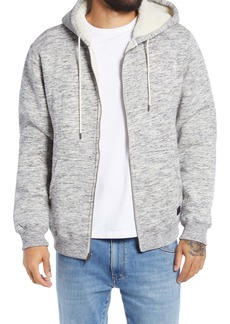 RVCA Men's Latona Zip Front Hoodie with Faux Fur Lining