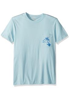 RVCA Men's Palm Shark Short Sleeve Pocket T-Shirt  M