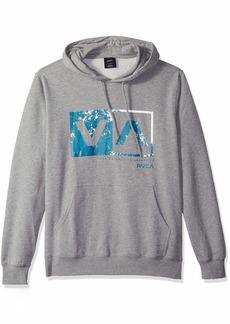 RVCA Men's Reflection Box Pullover Fleece Hooded Sweatshirt  S
