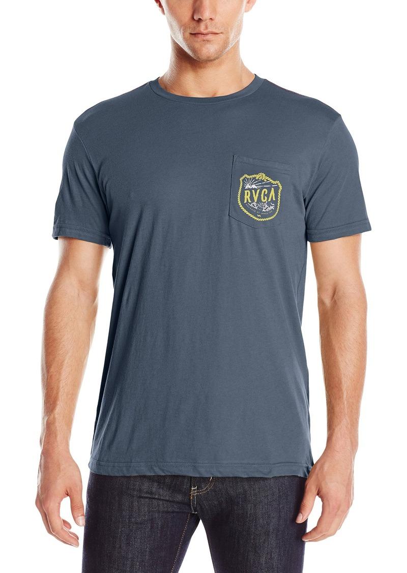 Rvca rvca men 39 s rope shield pocket t shirt t shirts for Rvca mens t shirts