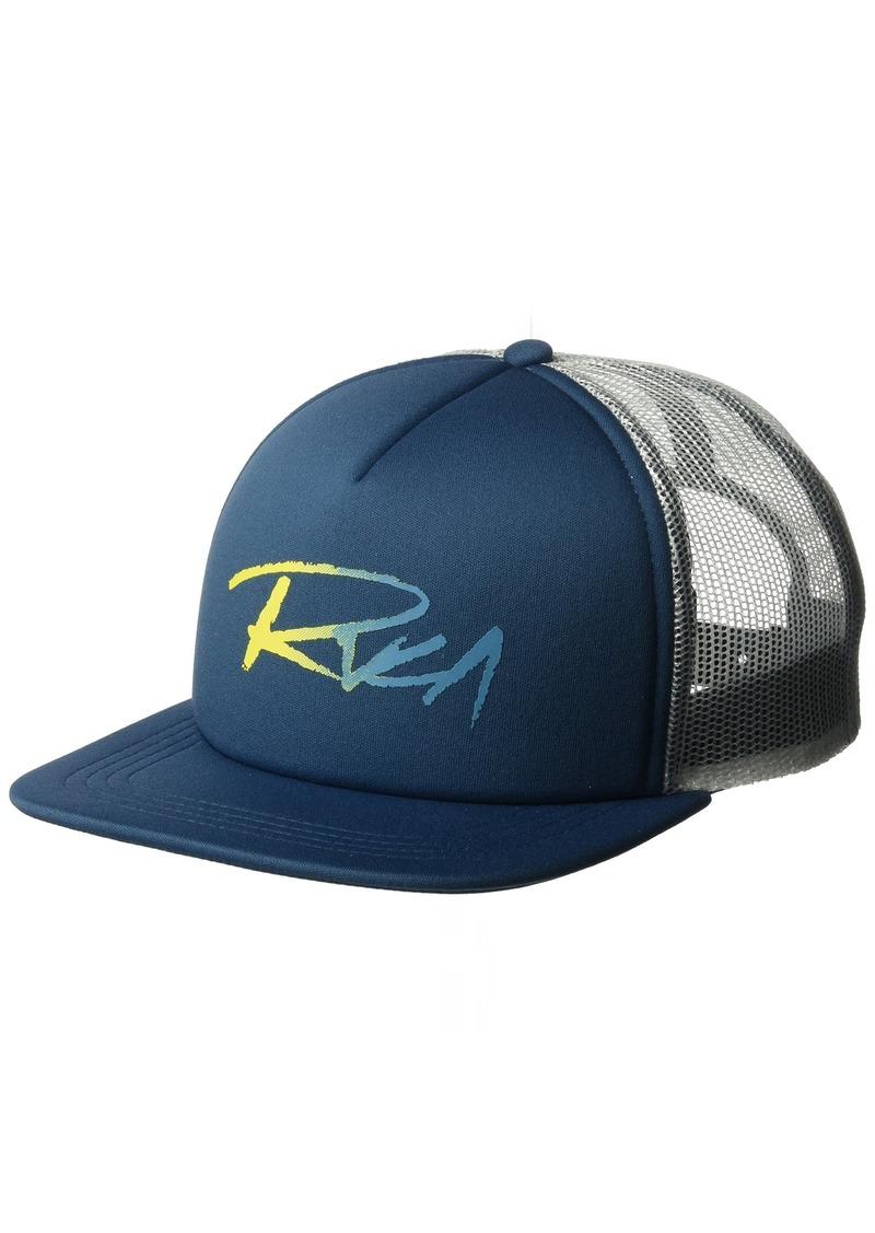 6f0e6af4c3879 On Sale today! RVCA RVCA Men s Skratch Gradient Foamy Trucker Hat ...