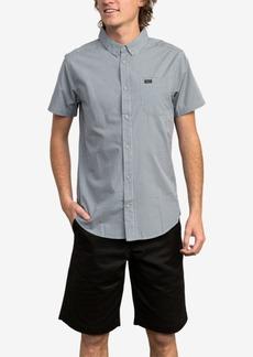 Rvca Men's Slim-Fit Yarn Dyed Plaid Shirt