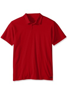 RVCA Men's Sure Thing II Polo Chinese red M