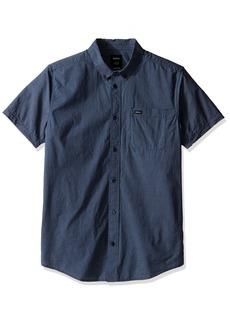 RVCA Men's That'll Do Micro Short Sleeve Shirt